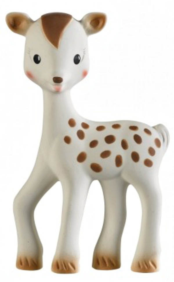 Sophie the Giraffe-100% Natural Rubber Teether- Fanfan the Fawn