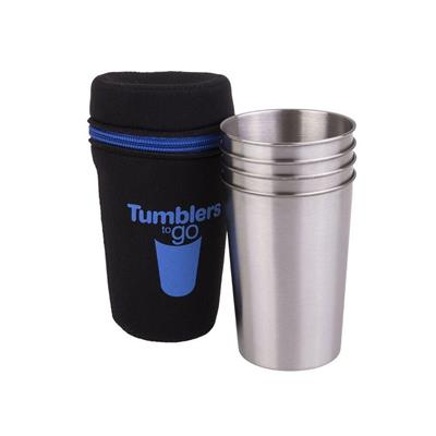 Stainless Steel Tumblers to Go 350ml Set 4