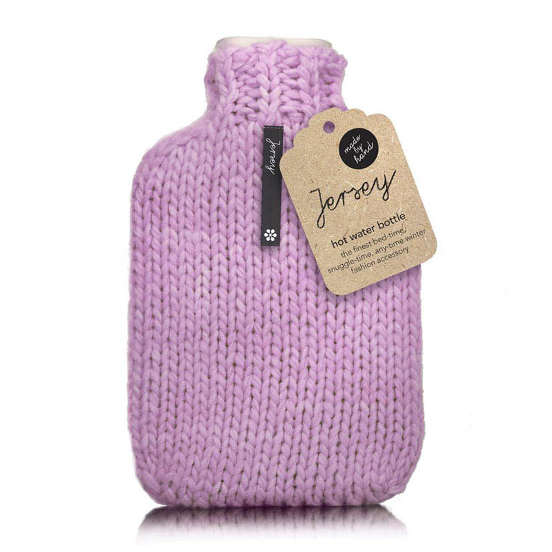 Star and Rose-Hot Water Bottles-Jersey Pink