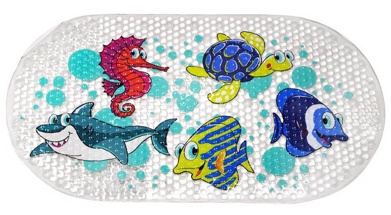 Star and Rose-Kids Bathroom Safety- Bath Mat {Sea Creatures}