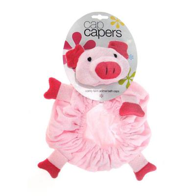 Star and Rose-Kids Shower Caps-Cap Capers {Pig}