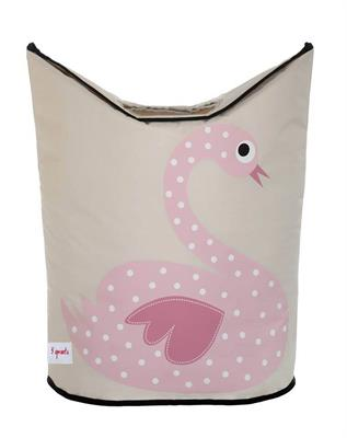 3 Sprouts Swan Laundry Hamper