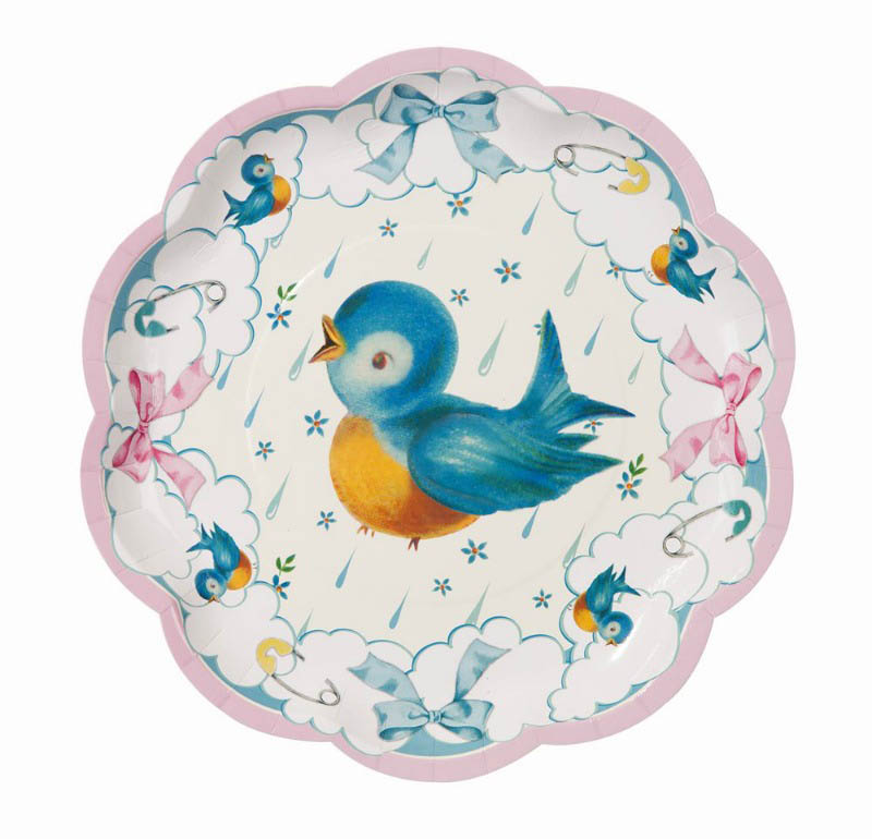 Talking Tables-Baby Showers- Baby on Board Plates