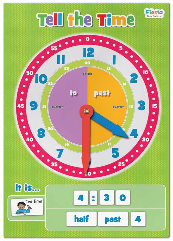Tell the Time Magnetic Chart