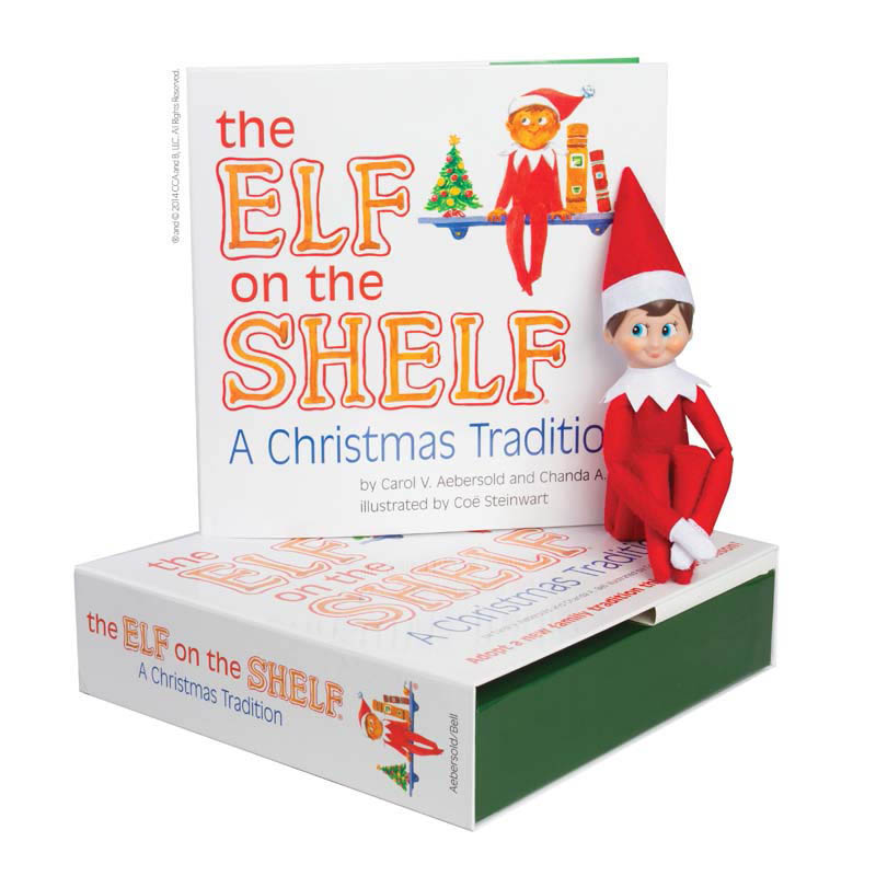 The Elf on the Shelf: A Christmas Tradition (includes boy scout elf with blue eyes)
