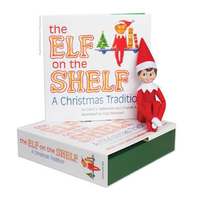 The Elf on the Shelf A Christmas Tradition with Boy Scout Elf blue eyes