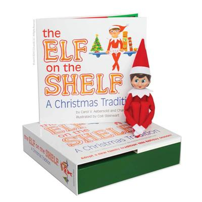 The Elf on the Shelf A Christmas Tradition with Girl Scout Elf blue eyes
