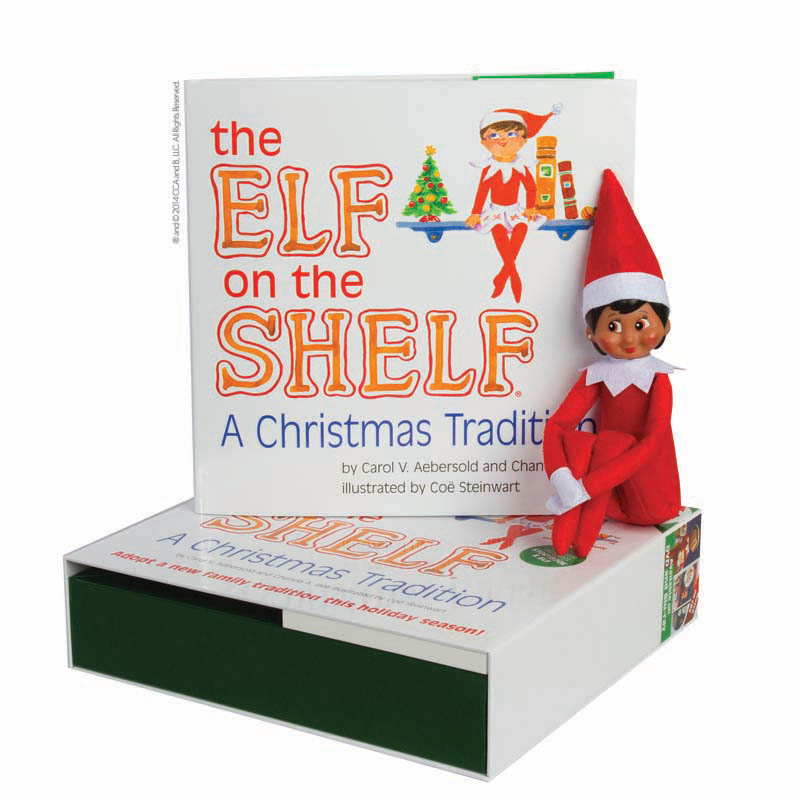 The Elf on the Shelf: A Christmas Tradition (includes girl scout elf with brown eyes)
