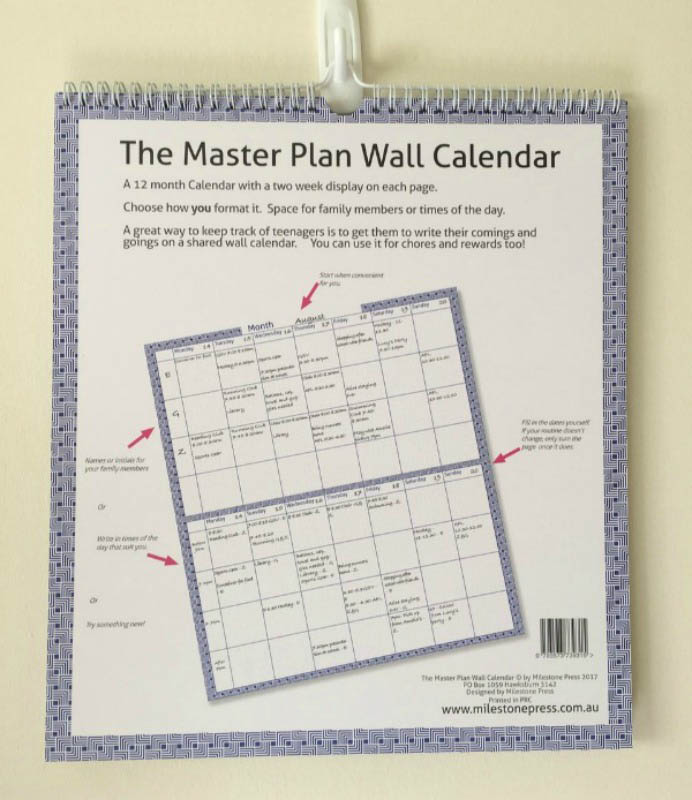 The Master Plan 12 Month Wall Calendar - Undated