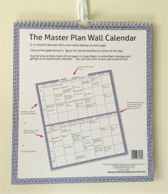 The Master Plan Undated 12 Month Wall Calendar