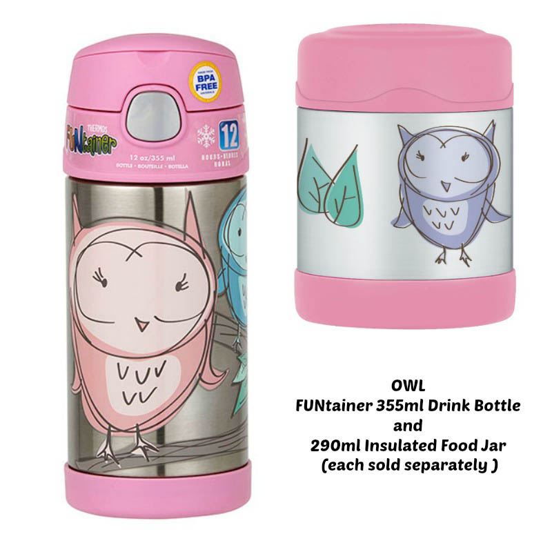 Thermos Funtainer 290ml Insulated Food Jar - Owl