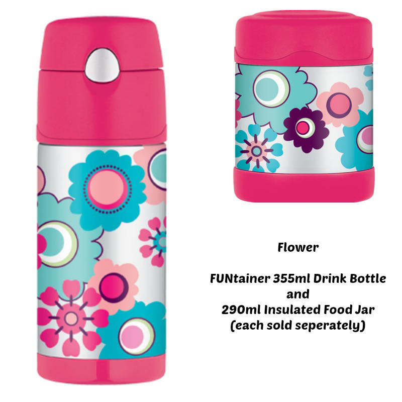 Thermos Funtainer 290ml Insulated Food Jar - Pink Flowers
