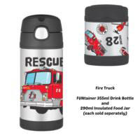 Thermos Funtainer 290ml Insulated Food Jar - Fire Truck