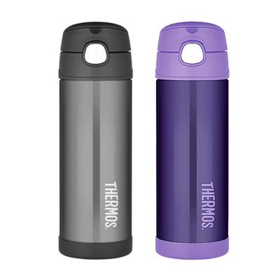 Thermos Insulated Stainless Steel 470 ml Funtainer Straw Bottle