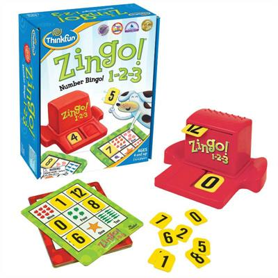 ThinkFun Zingo! 1-2-3 Number Bingo Game