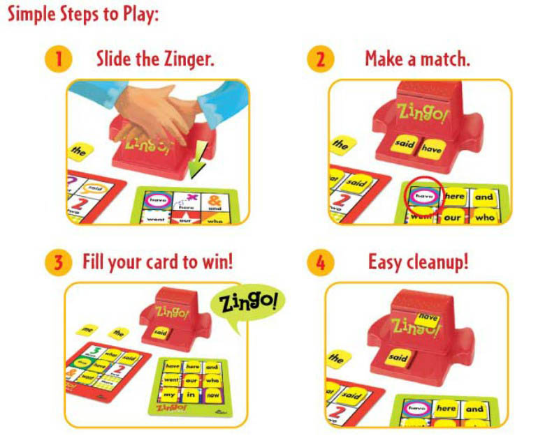ThinkFun Zingo! Sight Words