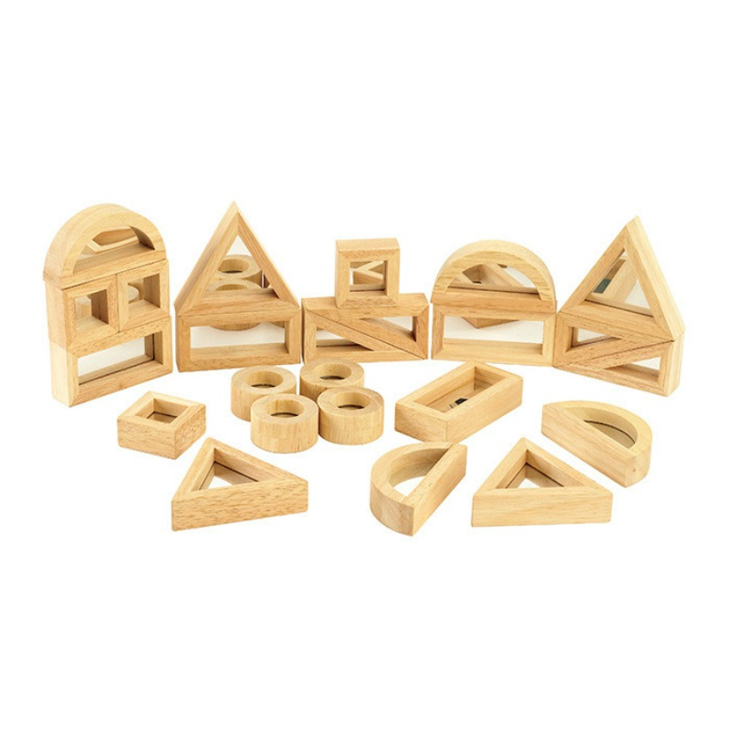 TickiT Wooden Mirror Block Set 24pcs
