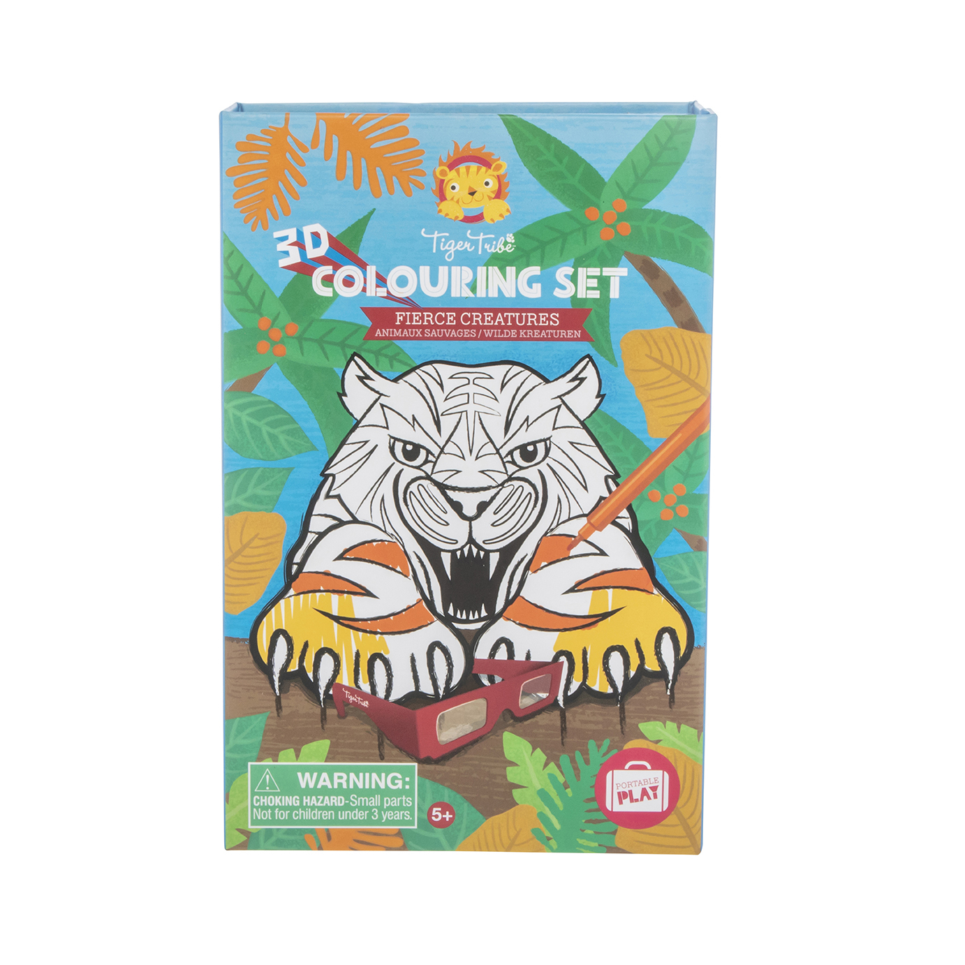Tiger Tribe 3D Colouring Set - Fierce Creatures