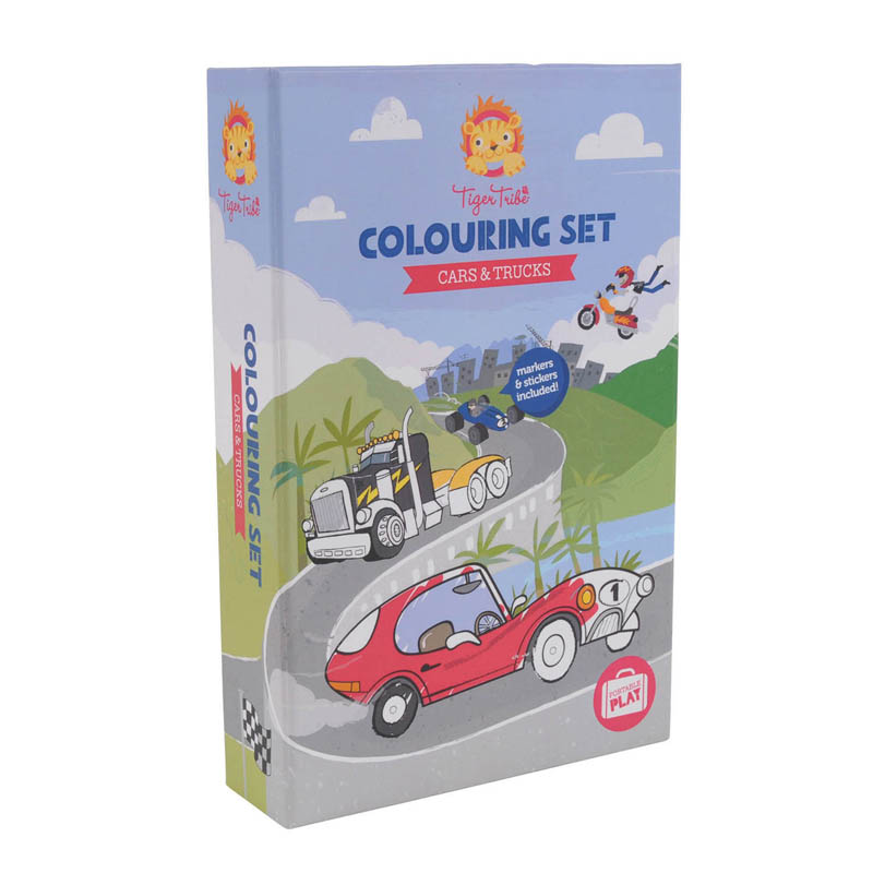 Tiger Tribe - Cars and Trucks Colouring Set