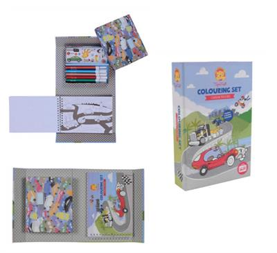 Tiger Tribe Cars and Trucks Colouring Set