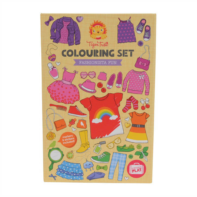 Tiger Tribe Fashionista Fun Colouring Set
