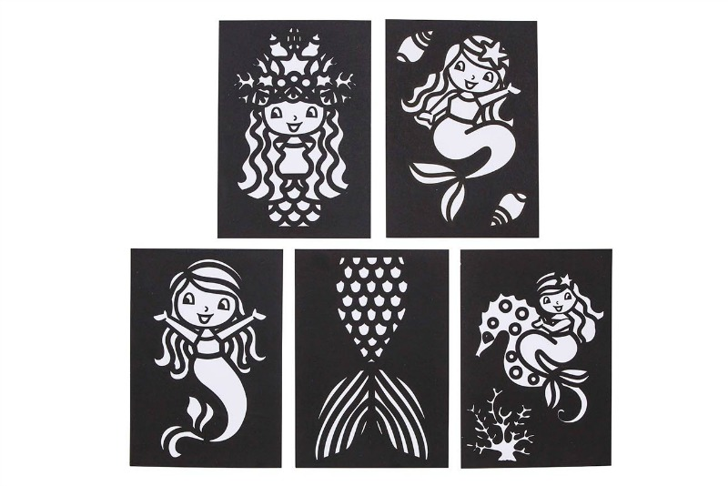 Tiger Tribe Foil Art Mermaids