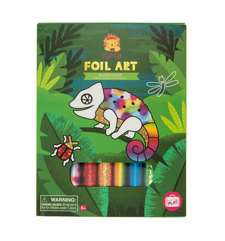 Tiger Tribe Foil Art Rainforest