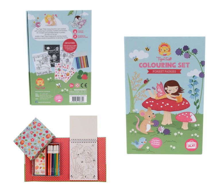 Tiger Tribe - Forest Fairies Colouring Set