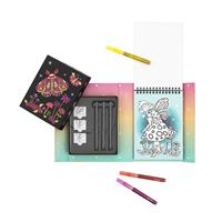 Tiger Tribe Glitter Night Garden Colouring Set