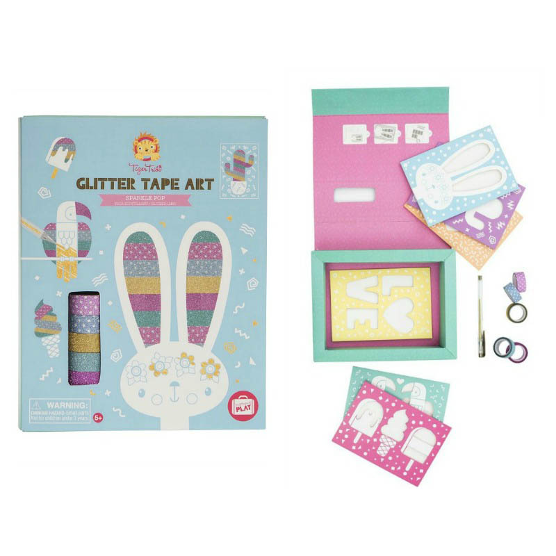 Tiger Tribe Glitter Tape Art Sparkle Pop