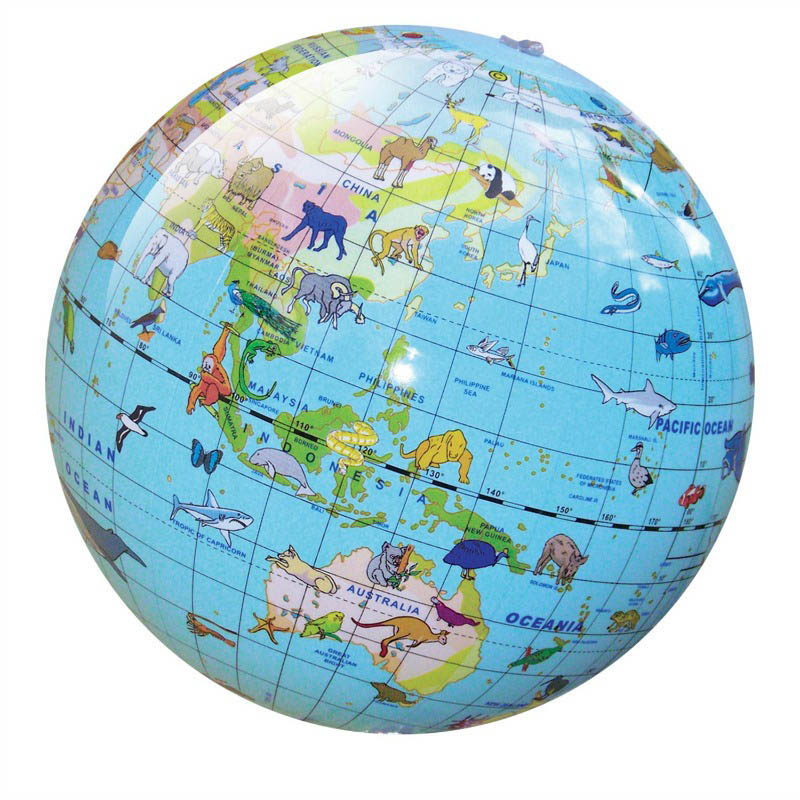 Tiger Tribe - Inflatable 30cm Animals of the World Globe