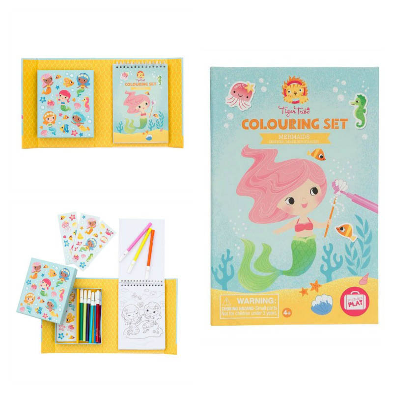 Tiger Tribe Mermaids Colouring Set