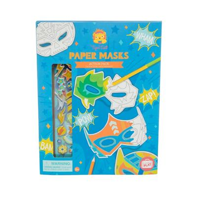 Tiger Tribe Paper Masks Action Pack