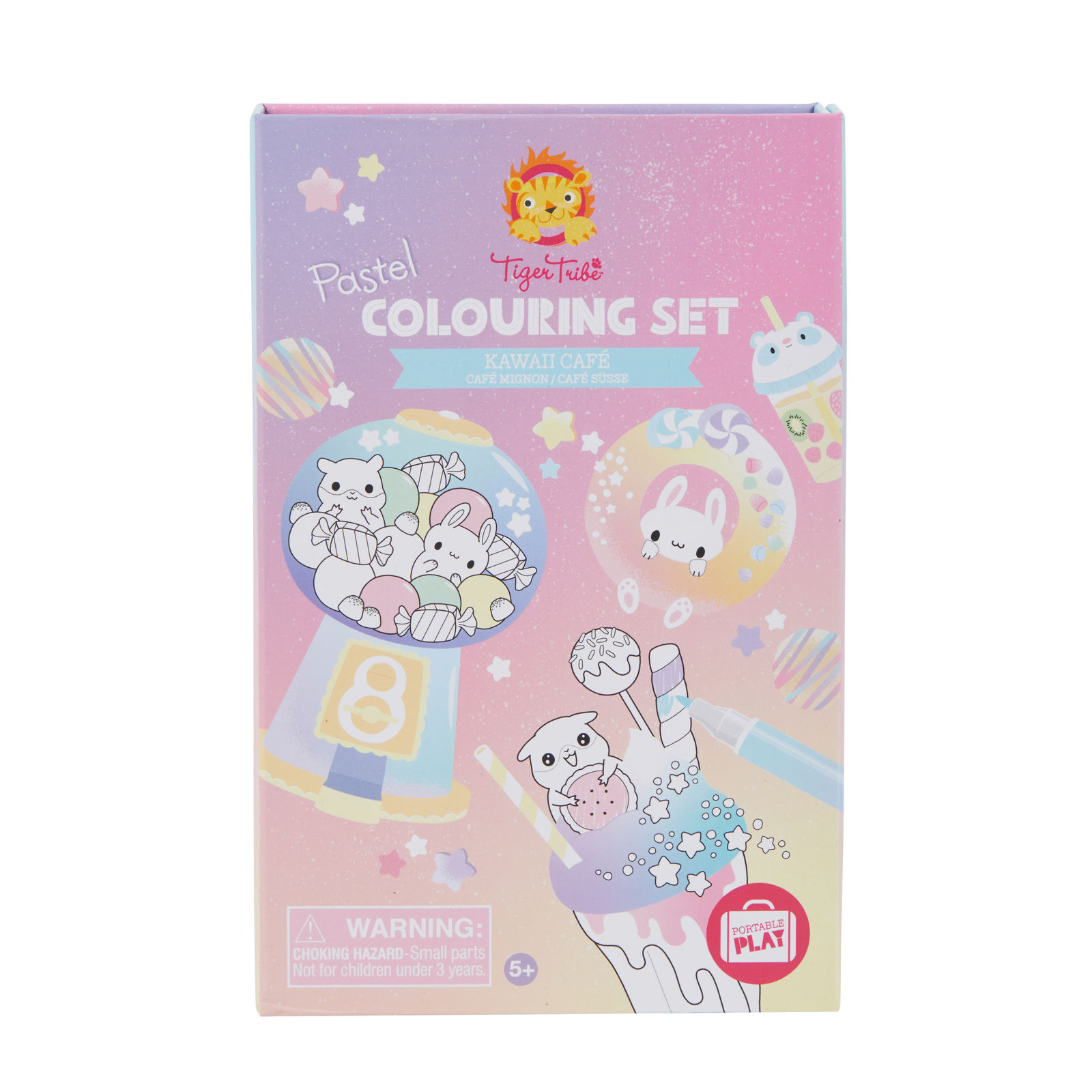 Tiger Tribe Pastel Kawaii Cafe Colouring Set