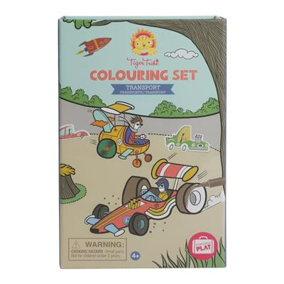 Tiger Tribe Transport Colouring Set
