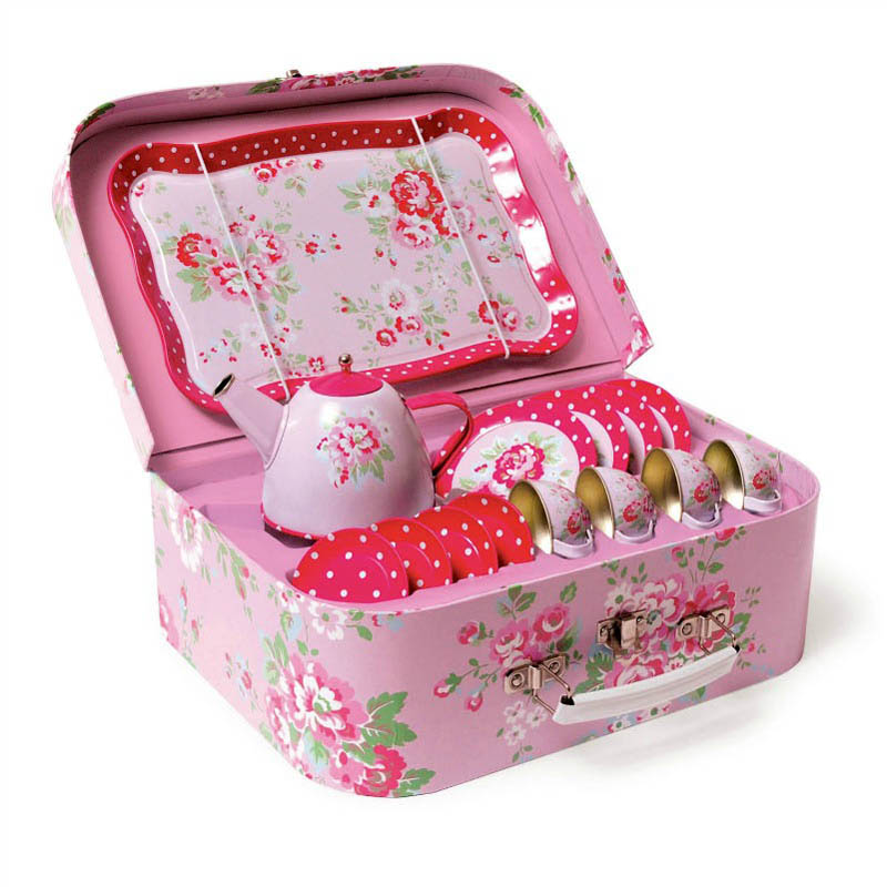 Tiger Tribe  Vintage Tea Set - Pink Roses