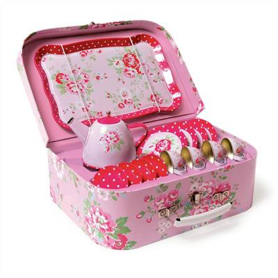 Tiger Tribe Vintage Tea Set Pink Roses