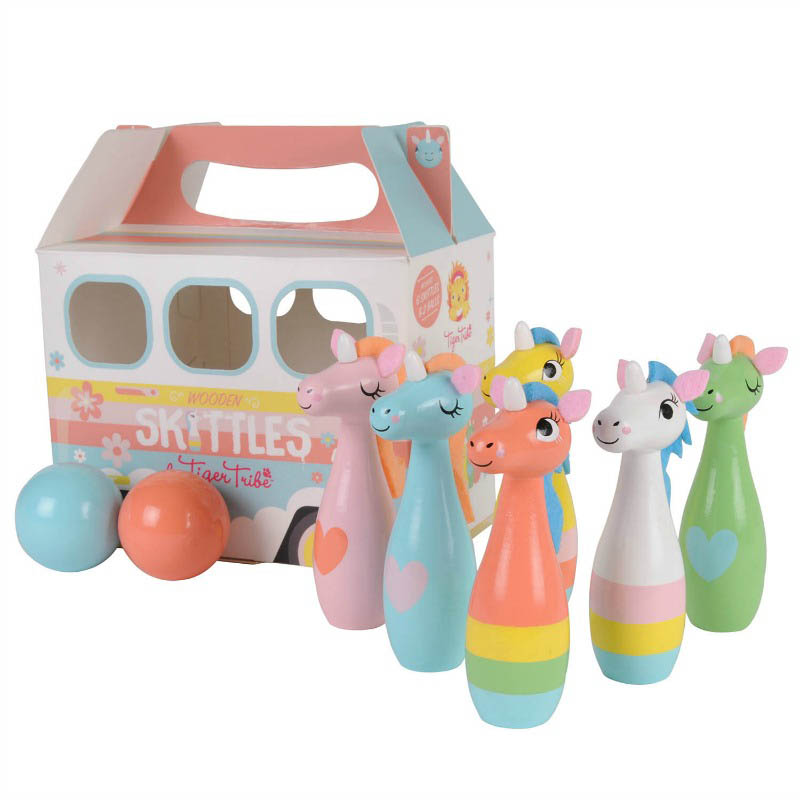 Tiger Tribe Wooden Skittles - Unicorn