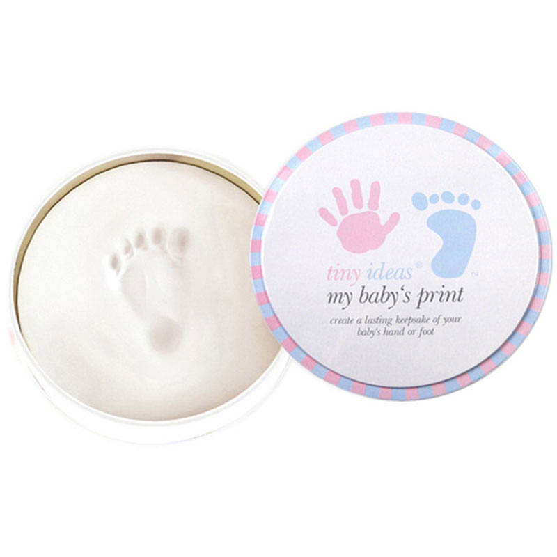 Pearhead Tiny Ideas Babyprints Tin - Blue / Pink lid