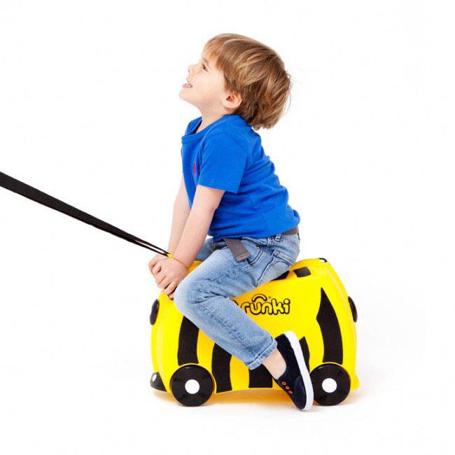 Trunki Kids Suitcase - Bernard the Bee - kids ride on suitcase
