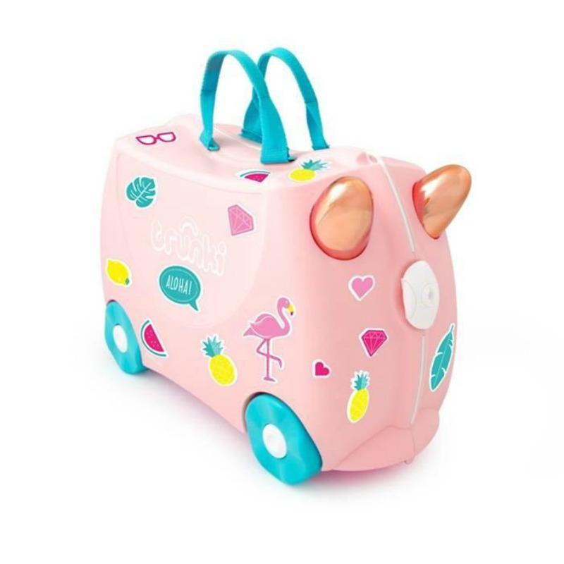 d139a8df688 Trunki Kids Suitcase Flossi Flamingo