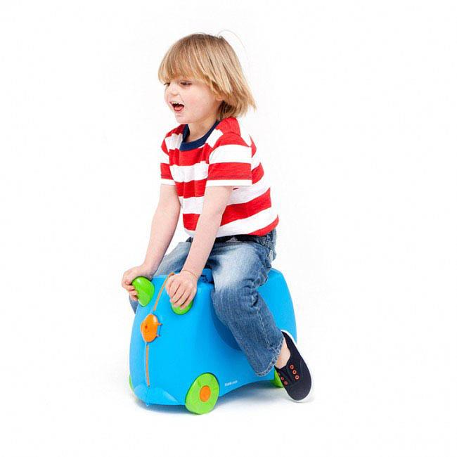 Trunki Kids Suitcase - Terrance Blue - ride on suitcase