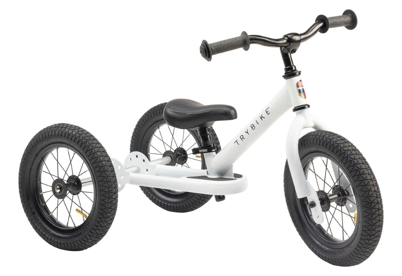 Trybike Steel White 2 in 1 Balance Bike