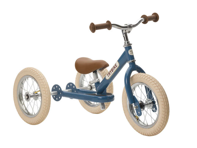 Trybike Vintage Blue 2 in 1 Balance Bike