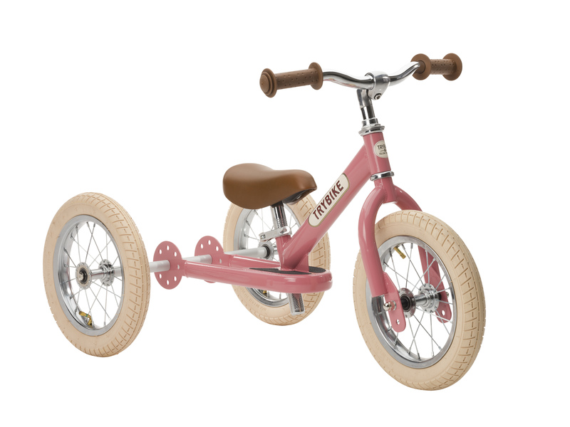 Trybike Vintage Pink 2 in 1 Balance Bike PREORDER for 15th of August