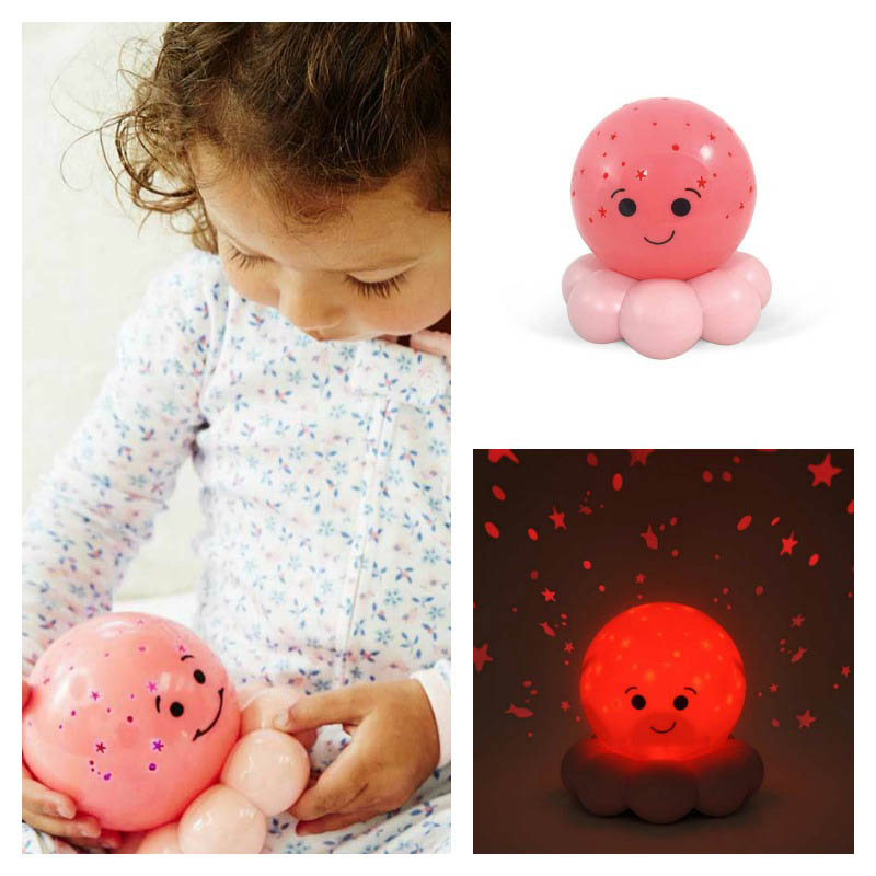 Cloud B Twinkles Octo Pink Night Light