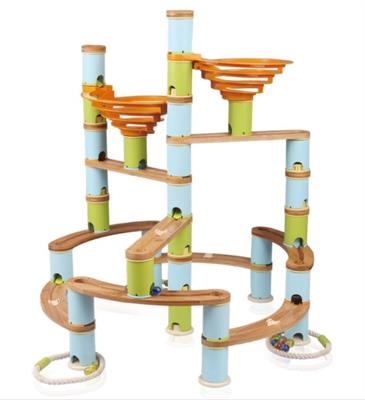 Udeas Bamboo Build & Run Jumbo Marble Run