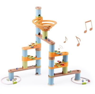 Udeas Bamboo Build & Run Musical Marble Run