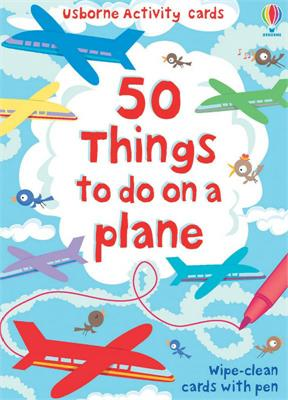 Usborne 50 Things To Do On A Plane Wipe Clean Cards&Pen
