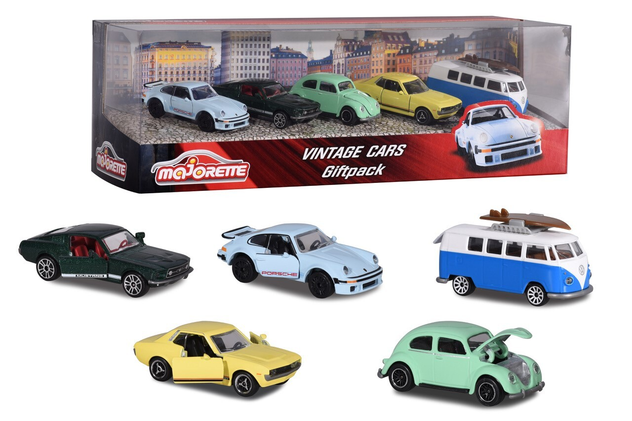 Vintage Car 5 piece Giftpack | Die Cast Toy Cars